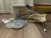 Moulinex Mouli-Julienne Slicer Shredder Grater 5 Discs France No. 445