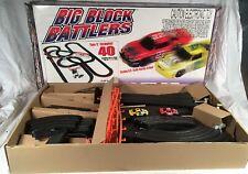 AFX TOMY BIG BLOCK BATTLERS Electric Slot Car Set tested works~box/instructions