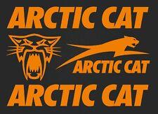 Set of stickers- Arctic cat- high quality -  4 stickers- orange SK-179