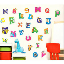 Removable Kids Nursery Room Decal Decor Wall Sticker A-Z Alphabet Animals NT5CA