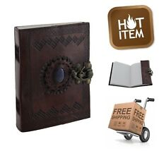 Embossed Leather Blank Notebook Vintage Diary Notepad Leather Writing Journal