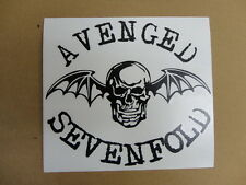 Avenged sevenfold batskull vinyl sticker decal 8x7, choose fav color, free ship!