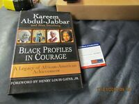 Kareem Abdul-Jabbar Autographed Black Profiles in Courage Book PSA Certified