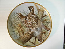 """Collector Plate 1978 GAME BIRDS OF THE WORLD Hazel Grouse Basil Ede 9"""""""