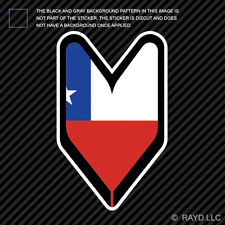 Chilean Driver Badge Sticker Die Cut Decal wakaba leaf soshinoya Chile CHL CL