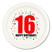 Happy 16th Birthday (Age 16) Party Supplies DESSERT CAKE PLATES