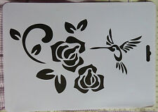 Plastic * PVC * Coated * Stencil * Multi * Oriental  *Bird * Rose * Flower