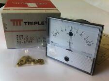 Triplett 320g 40ua - 0 - 40ua Center Panneau de qualité zéro compteur 52-3744 ad2g