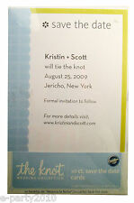 THE KNOT WEDDING COLLECTION SAVE THE DATE CARDS (10) ~ Wilton Party Supplies