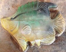 Fish 2 plaque, stepping stone plastic mold, concrete mold, cement, plaster