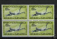 South Africa 1964 SG#253 12.5c Rugby MNH Block