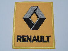 MOTORSPORTS RACING CAR SEW ON / IRON ON PATCH:- RENAULT (b) DARK YELLOW BLOCK