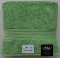 "Ralph Lauren Greenwich~APPLE~(Bright Green) Individual Bath Towels~30""x56"""
