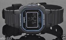 LA-20WH-1B Black New Casio Watches Ladies Stopwatch Led Light Resin Band