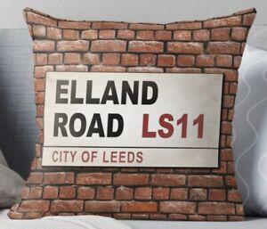 Elland Road Quality Cushion with Insert, Leeds United, Cushion, Velvet