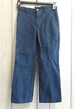 boys size 7 regular Izod adjustable waist navy blue flat front pants $34