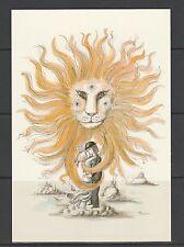 carte moderne les amoureux de Peynet  zodiaque  Lion