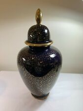 "Echt Kobalt 17"" Vase With Lid"