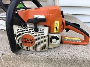 "Great Refurbished Stihl MS 250 Chainsaw With Good .325 16"" Bar & Chain 251 025"