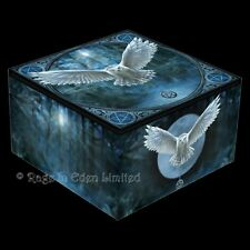 AWAKEN YOUR MAGIC Anne Stokes Fantasy Owl Pentagram Art Trinket Box With Mirror