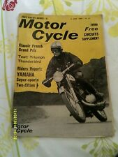 The Motor Cycle(2nd june1966) Yamaha YDS3 250/ Triumph 6T 650