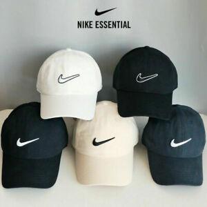 Mens Baseball Caps Swoosh Metal Logo Cap Sports Golf Adjustable Hat