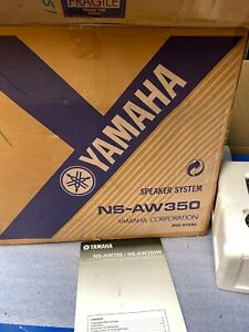 Yamaha NS-AW350W All-Weather Indoor/Outdoor 2-Way Speakers - With Mounts
