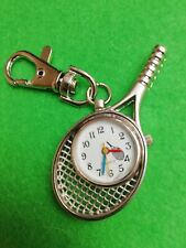 NEW Tennis Racquet WATCH Keyring