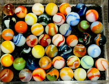 Peltier Vintage Marbles Lot of 48 NLR, Rainbo Sunset Dragon Rare {MicsMibs}