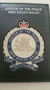NSW Justice of the Peace badge and Wallet. CASH note NOTE NOT Included