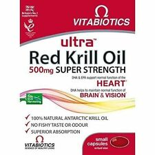 Vitabiotics Ultra Red Krill Oil 500mg Super Strength 30 Capsules Expiry May 2016