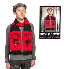 Krampus Red Soft-Knit Acrylic Christmas Scarf!