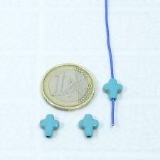 25 Abalorios Cruces 12x12mm T508C Plata Tibetano Charms Perline Cross Pendants