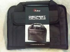 BLACK DISCREET 2 PISTOL RANGE BAG by AIM SPORTS