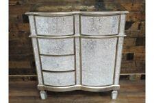 1 Door 5 Drawer Mirrored Crackle Cabinet