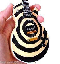 Zakk Wylde Black Label Society Cream Bullseye Miniature Guitar Ozzy Osbourne