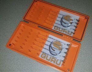 100 Hand tied hooklengths in a Guru hooklength box Guru SLWG hooks
