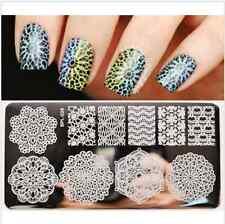 4Pcs Nail Art Stamping Plates Lace Stamp Image Template Stamping Polish Set Tool