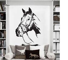 Pferdekopf Wandtattoo Wallpaper Wand Schmuck 73 x 50 cm Wandbild  Pferd Horse