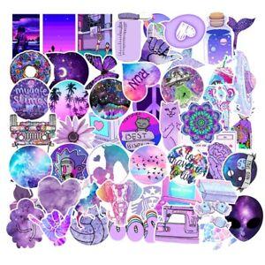 UK Cartoon Small Fresh Graffiti Stickers Flask 50Pcs Purple Sticker Aesthetic