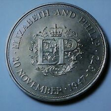 Great Britain 25 pence 1972 Silver wedding anniversary of Elizabeth and Philip