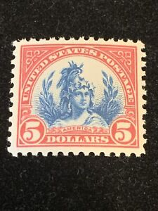 US Stamp # 573. $5 . MNH. Make Offers. Great Color!!! VF/XF !!!!!