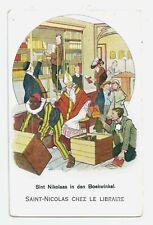 St. Nicholas at the Bookstore ca.1920s? Postcard