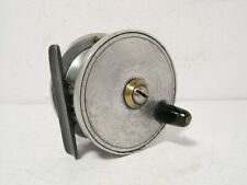 """Vintage Antique Allcock 2 1/2"""" Brass Alloy Platewind Fly Fishing Reel - Nice"""