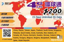 15 Day Asia Data Sim Card for China Japan Thai Korea Singapore Malaysia PAYG
