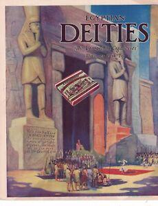 1914 Egyptian Deities tobacco cigarette ad from Judge Magazine - Extreme rare