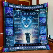 To My Son. Lion Version 5 Fleece Blanket Printing in US
