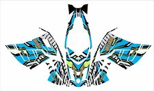 ski-doo GSX 1200  Rev XR  DECAL WRAP 163 154 146 137 120 lime green blue graphic
