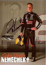 2015 John Hunter Nemechek signed Nascar Truck Racing Photo Card Postcard wCa joe