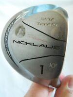 Nicklaus Air Bear 2 Golf Club Driver 10* #1 Beta Ti-Face Steel Shaft